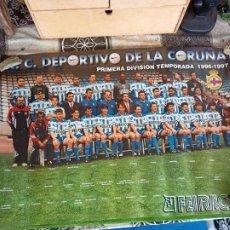 Collezionismo sportivo: CARTEL PÓSTER R.C. DEPORTIVO DE LA CORUÑA 1996-97 96-97 TAMAÑO 68,5 X 49 CM. Lote 256039230
