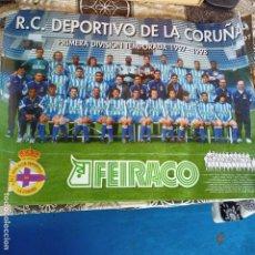 Collezionismo sportivo: CARTEL PÓSTER R.C. DEPORTIVO DE LA CORUÑA 1997-98 97-98 TAMAÑO 68,5 X 49 CM. Lote 256039310