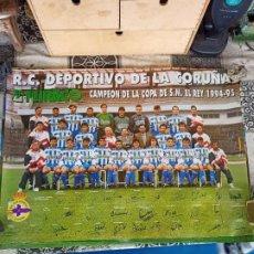 Collezionismo sportivo: CARTEL PÓSTER R.C. DEPORTIVO DE LA CORUÑA 1994-95 CAMPEÓN COPA DEL REY TAMAÑO 68,5 X 49 CM. Lote 256039795