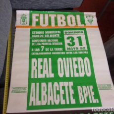 Coleccionismo deportivo: CAMPEONATO LIGA 1 DIVISION REAL OVIEDO-ALBACETE BPIE AÑO 1992. Lote 257796670