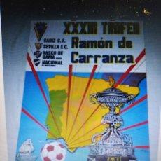 Coleccionismo deportivo: CARTEL TROFEO CARRANZA AÑO 1987. Lote 260451250