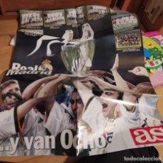 Coleccionismo deportivo: POSTER REAL MADRID. GANADOR OCTAVA COPA DE EUROPA. DIARIO AS. Lote 261784770