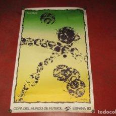 Coleccionismo deportivo: ANTIGUO CARTEL SEDE DE ALICANTE COPA DEL MUNDO DE FUTBOL ESPAÑA 82 ILUSTRADO POR ALECHINSKY. Lote 261785310