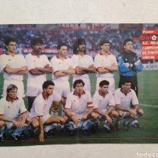 Coleccionismo deportivo: PÓSTER DON BALÓN A.C MILÁN, CAMPEÓN DE EUROPA 1989-90. Lote 262143445