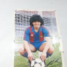 Coleccionismo deportivo: ANTIGUA LÁMINA FC BARCELONA MARADONA SCHUSTER LEER DESCRIPCION. Lote 262678845