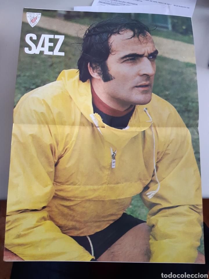 Coleccionismo deportivo: Lote de 20 poster Athletic Club de Bilbao 1973-1974 Iribar Rojo - Foto 3 - 262905350