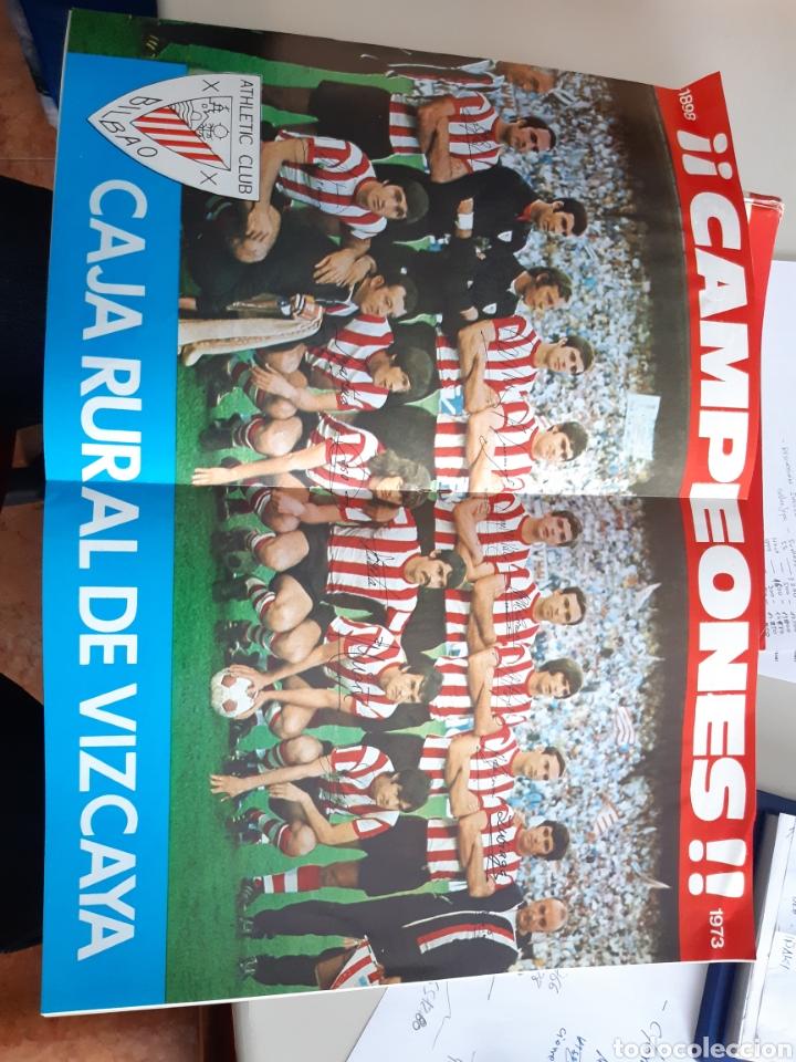 Coleccionismo deportivo: Lote de 20 poster Athletic Club de Bilbao 1973-1974 Iribar Rojo - Foto 7 - 262905350