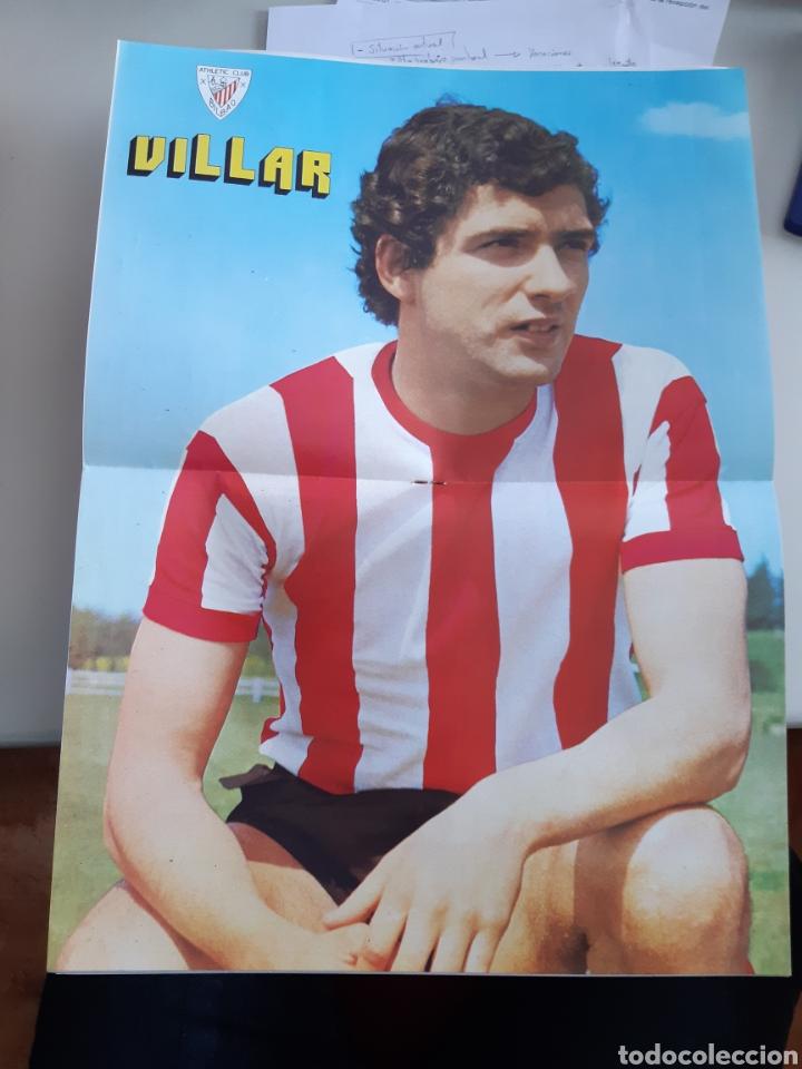 Coleccionismo deportivo: Lote de 20 poster Athletic Club de Bilbao 1973-1974 Iribar Rojo - Foto 8 - 262905350