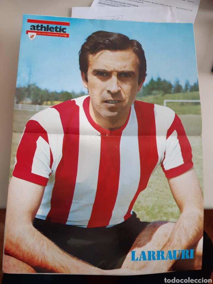 Coleccionismo deportivo: Lote de 20 poster Athletic Club de Bilbao 1973-1974 Iribar Rojo - Foto 9 - 262905350