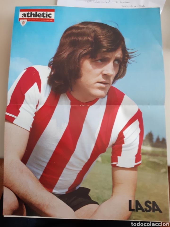 Coleccionismo deportivo: Lote de 20 poster Athletic Club de Bilbao 1973-1974 Iribar Rojo - Foto 12 - 262905350