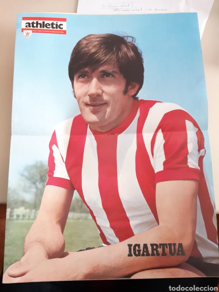 Coleccionismo deportivo: Lote de 20 poster Athletic Club de Bilbao 1973-1974 Iribar Rojo - Foto 13 - 262905350