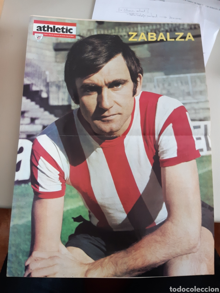 Coleccionismo deportivo: Lote de 20 poster Athletic Club de Bilbao 1973-1974 Iribar Rojo - Foto 18 - 262905350
