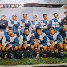 Coleccionismo deportivo: POSTER CLUB DEPORTIVO SABADELL 1969. Lote 263807540