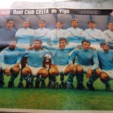 Coleccionismo deportivo: POSTER REAL CLUB CELTA DE VIGO 1969. Lote 263808065