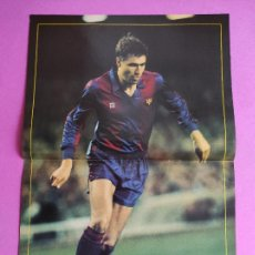 Colecionismo desportivo: POSTER JULIO SALINAS FC BARCELONA 88/89 - REVISTA DON BALON BARÇA 1988/1989. Lote 264180720