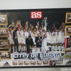 Coleccionismo deportivo: 1998 - POSTER GIGANTE REAL MADRID REY DE EUROPA. 83X56CM. CAMPEÓN DE LA SÉPTIMA COPA DE EUROPA. Lote 265698234