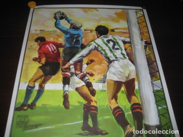 Coleccionismo deportivo: POSTER CARTEL FUTBOL MUNDIAL ESPAÑA 1982. ESTADIO SANCHEZ PIZJUAN, SEVILLA. FRANCIA - ALEMANIA - Foto 2 - 246728330