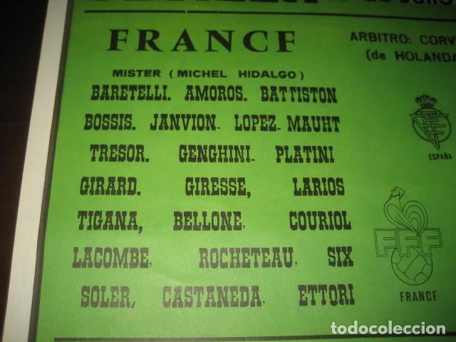 Coleccionismo deportivo: POSTER CARTEL FUTBOL MUNDIAL ESPAÑA 1982. ESTADIO SANCHEZ PIZJUAN, SEVILLA. FRANCIA - ALEMANIA - Foto 5 - 246728330