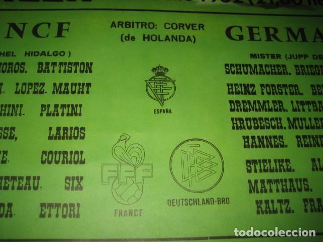 Coleccionismo deportivo: POSTER CARTEL FUTBOL MUNDIAL ESPAÑA 1982. ESTADIO SANCHEZ PIZJUAN, SEVILLA. FRANCIA - ALEMANIA - Foto 6 - 246728330