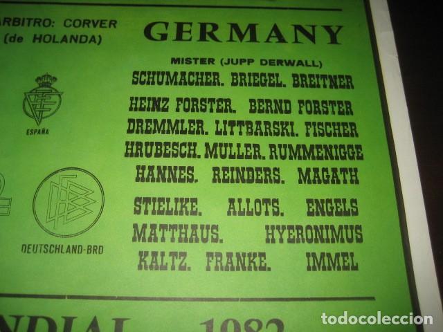 Coleccionismo deportivo: POSTER CARTEL FUTBOL MUNDIAL ESPAÑA 1982. ESTADIO SANCHEZ PIZJUAN, SEVILLA. FRANCIA - ALEMANIA - Foto 7 - 246728330