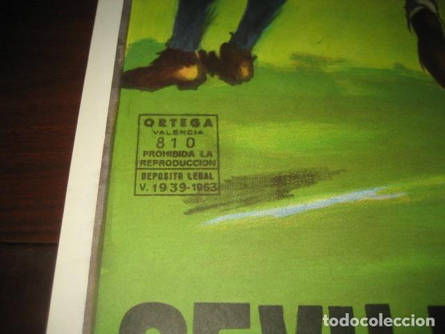 Coleccionismo deportivo: POSTER CARTEL FUTBOL MUNDIAL ESPAÑA 1982. ESTADIO SANCHEZ PIZJUAN, SEVILLA. FRANCIA - ALEMANIA - Foto 8 - 246728330