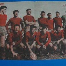 Coleccionismo deportivo: POSTER DE FUTBOL C.D. ORENSE REVISTA SEMANA AÑO 60-61. Lote 268578089