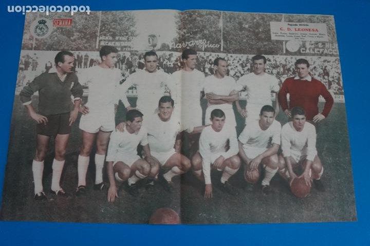 POSTER DE FUTBOL C.D. LEONESA REVISTA SEMANA AÑO 60-61 (Coleccionismo Deportivo - Carteles de Fútbol)