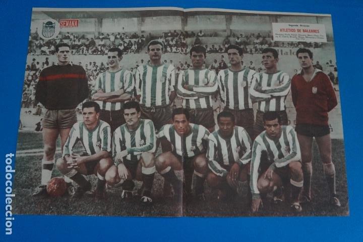 POSTER DE FUTBOL ATLETICO DE BALEARES REVISTA SEMANA AÑO 60-61 (Coleccionismo Deportivo - Carteles de Fútbol)