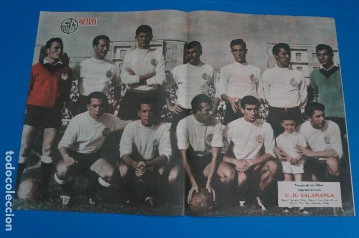 POSTER DE FUTBOL U.D. SALAMANCA REVISTA SEMANA AÑO 60-61 (Coleccionismo Deportivo - Carteles de Fútbol)
