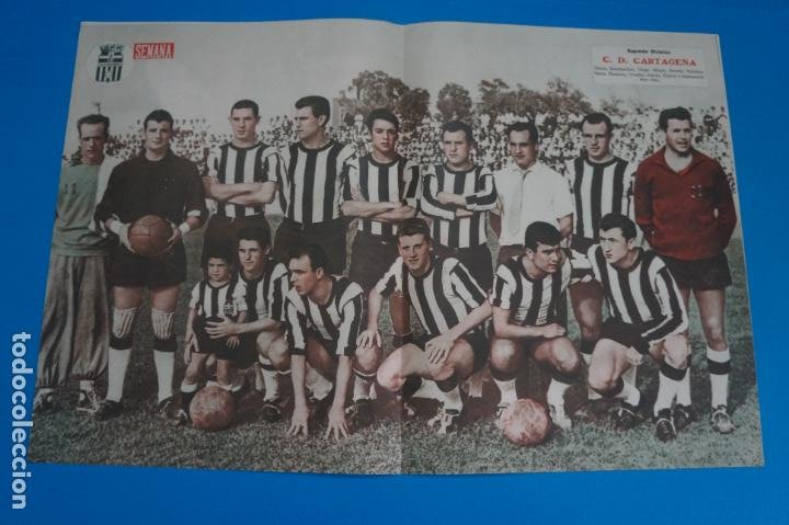POSTER DE FUTBOL C.D. CARTAGENA REVISTA SEMANA AÑO 60-61 (Coleccionismo Deportivo - Carteles de Fútbol)