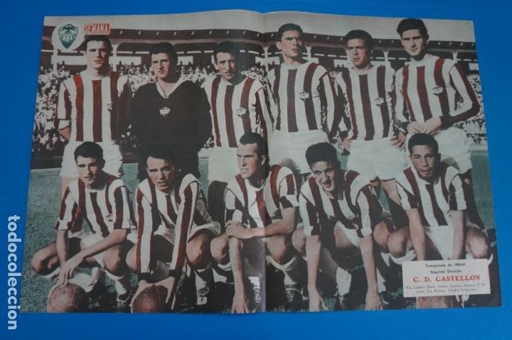 POSTER DE FUTBOL C.D. CASTELLON REVISTA SEMANA AÑO 60-61 (Coleccionismo Deportivo - Carteles de Fútbol)