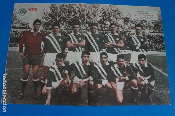 POSTER DE FUTBOL C.D. CONDAL REVISTA SEMANA AÑO 60-61 (Coleccionismo Deportivo - Carteles de Fútbol)