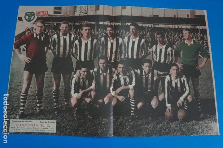 POSTER DE FUTBOL BASCONIA F.C. REVISTA SEMANA AÑO 60-61 (Coleccionismo Deportivo - Carteles de Fútbol)