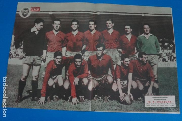 POSTER DE FUTBOL C.A. OSASUNA REVISTA SEMANA AÑO 60-61 (Coleccionismo Deportivo - Carteles de Fútbol)