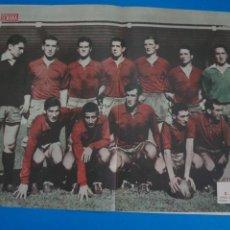 Coleccionismo deportivo: POSTER DE FUTBOL C.A. OSASUNA REVISTA SEMANA AÑO 60-61. Lote 268579809