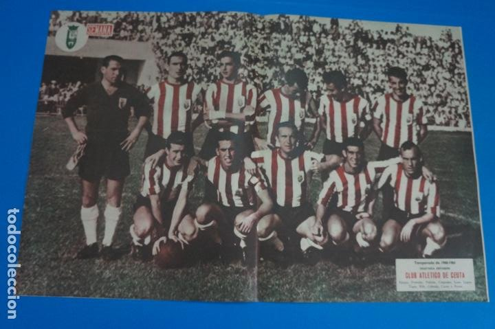 POSTER DE FUTBOL CLUB ATLETICO DE CEUTA REVISTA SEMANA AÑO 60-61 (Coleccionismo Deportivo - Carteles de Fútbol)