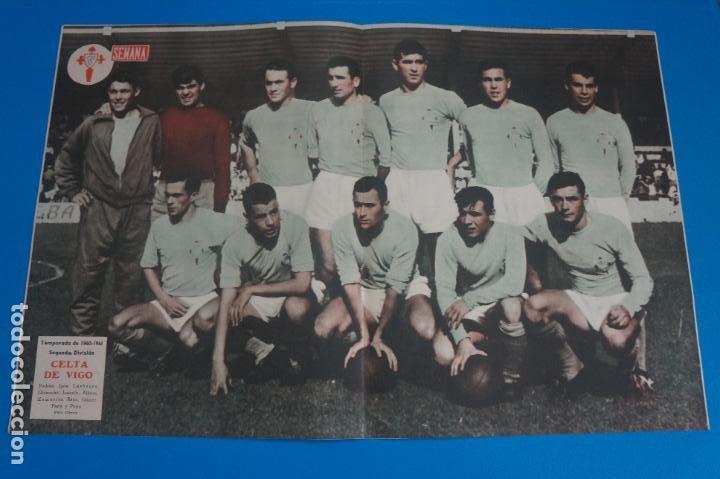 POSTER DE FUTBOL CELTA DE VIGO REVISTA SEMANA AÑO 60-61 (Coleccionismo Deportivo - Carteles de Fútbol)