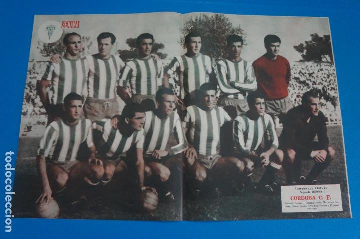 POSTER DE FUTBOL CORDOBA C.F. REVISTA SEMANA AÑO 60-61 (Coleccionismo Deportivo - Carteles de Fútbol)