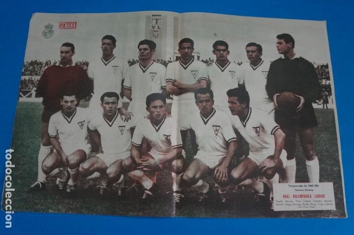 POSTER DE FUTBOL REAL BALOMPEDICA LINENSE REVISTA SEMANA AÑO 60-61 (Coleccionismo Deportivo - Carteles de Fútbol)