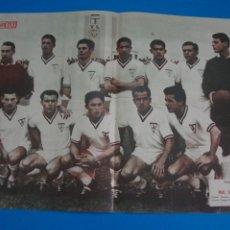 Coleccionismo deportivo: POSTER DE FUTBOL REAL BALOMPEDICA LINENSE REVISTA SEMANA AÑO 60-61. Lote 268581044