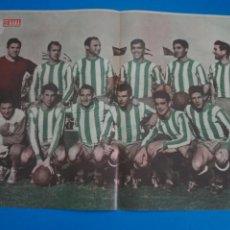 Coleccionismo deportivo: POSTER DE FUTBOL REAL CLUB RECREATIVO DE HUELVA REVISTA SEMANA AÑO 60-61. Lote 268581199