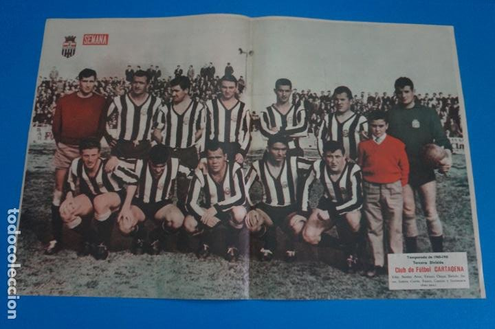 POSTER DE FUTBOL CLUB DE FUTBOL CARTAGENA REVISTA SEMANA AÑO 60-61 (Coleccionismo Deportivo - Carteles de Fútbol)