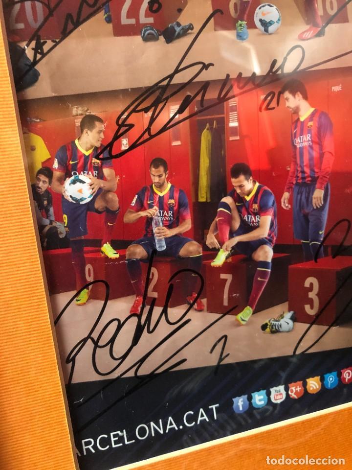 Coleccionismo deportivo: cuadro poster firmado jugadores FC BARCELONA LEO MESSI - Foto 2 - 268581809
