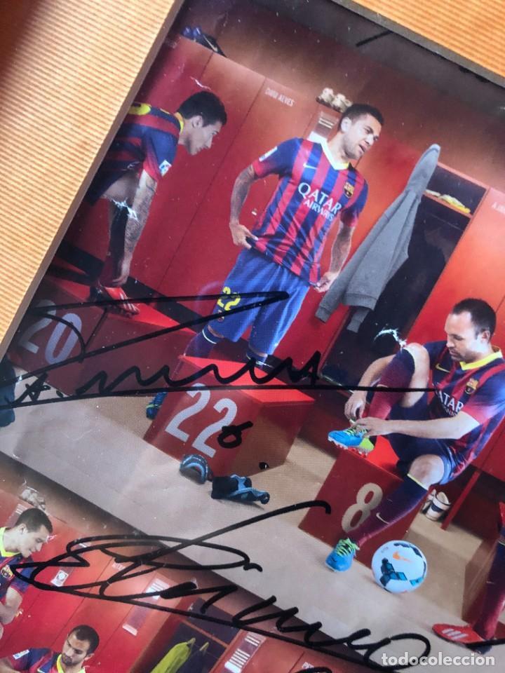 Coleccionismo deportivo: cuadro poster firmado jugadores FC BARCELONA LEO MESSI - Foto 3 - 268581809