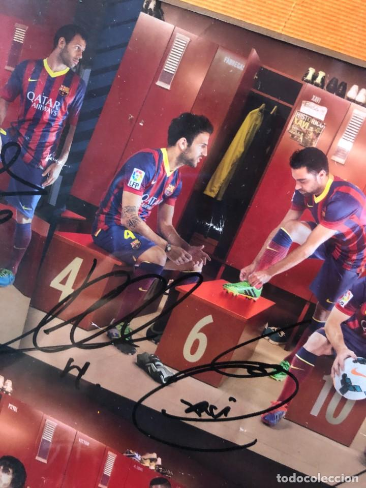 Coleccionismo deportivo: cuadro poster firmado jugadores FC BARCELONA LEO MESSI - Foto 4 - 268581809
