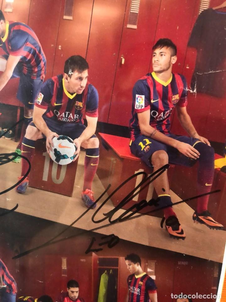 Coleccionismo deportivo: cuadro poster firmado jugadores FC BARCELONA LEO MESSI - Foto 5 - 268581809