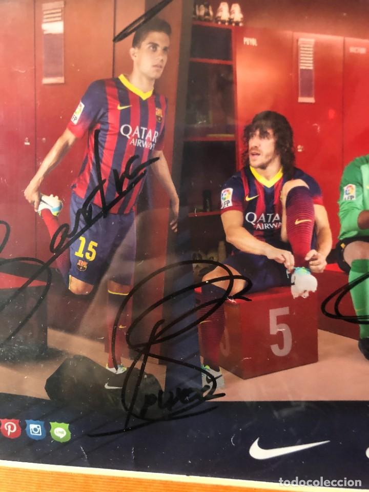 Coleccionismo deportivo: cuadro poster firmado jugadores FC BARCELONA LEO MESSI - Foto 6 - 268581809