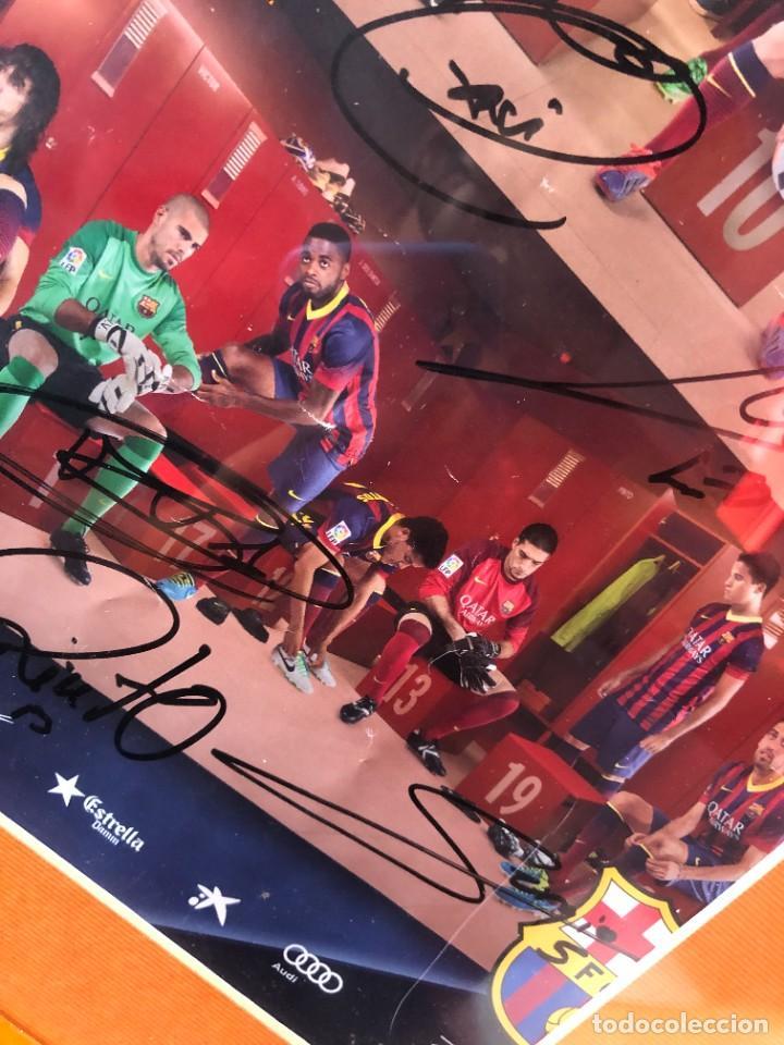 Coleccionismo deportivo: cuadro poster firmado jugadores FC BARCELONA LEO MESSI - Foto 7 - 268581809