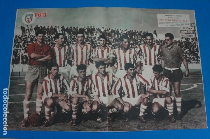 POSTER DE FUTBOL SAN SEBASTIAN C.F. REVISTA SEMANA AÑO 60-61 (Coleccionismo Deportivo - Carteles de Fútbol)