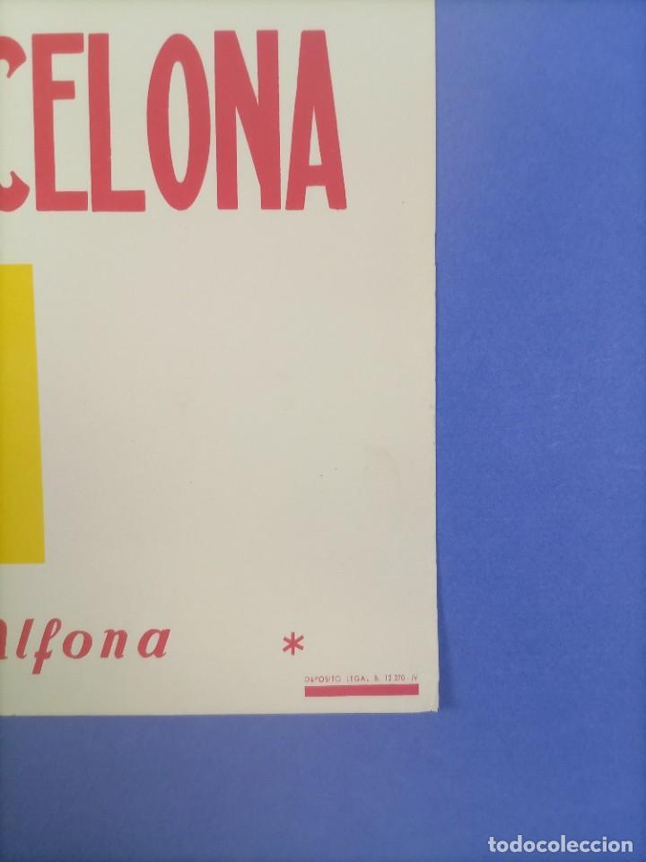 Coleccionismo deportivo: CARTEL - CIUDAD DE BERLIN-C.F. BARCELONA - 1961 - 60,5x42,5cm - IV TROFEO CIUDADES EN FERIA - Foto 5 - 268745539